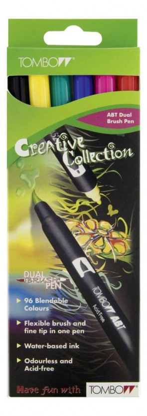 Tombow - Dual Brush Pen - Set of 6