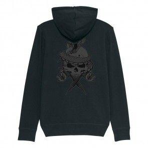 Tattooland Hooded Vest with Zipper - Skull Design
